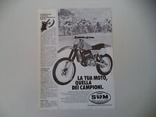 advertising Pubblicità 1981 MOTO SWM RS 440 MC TF4