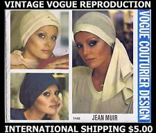 Millinery VOGUE # 1148 Designer JEAN MUIR HAT Fabric Sewing Pattern CHEMO Cancer