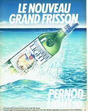 PUBLICITE ADVERTISING 106  1983  Pernod Light  20°   apéritif
