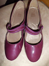 LADIES METALIC PLUM MARY JANE CLARKS ACTIVE AIR COURT SHOES SIZE 8