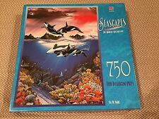 SEASCAPES SEA OF MAGIC KILLER WALES 750 PIECE PUZZLE FULLY INTERLOCKING COMPLETE