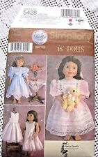 "5428 SEWING PATTERN~UNCUT~AMERICAN GIRL 18"" FANCY DOLL CLOTHES:LACE&RUFFLES+++"