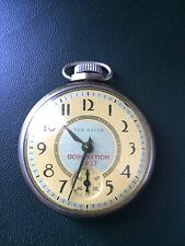 ROYAL CORONATION SOUVENIR POCKET WATCH  GEO VI 1937 RUNNING ALL INTACT!