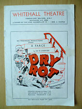 1954 Whitehall Theatre: Brian Rix in DRY ROT by John Chapman