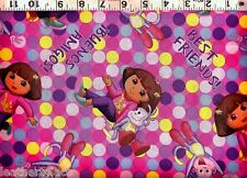Springs~ DORA Explorer BOOTS Best Friends ~ 100% Cotton Quilt Sewing Fabric BTY