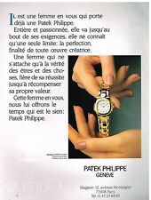 Publicité Advertising 1991 La Montre Nautilus de patek Philippe