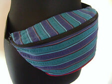 Bumbag Fanny Pack Bag Festival Clubbing Holiday Boho Hippy Hippie Stripe Stripey