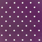 DOTTY BERRY PURPLE POLKA DOT DESIGN WIPE CLEAN PVC OILCLOTH TABLECLOTH FREE P&P