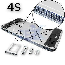Crystal/Diamond Silver Midframe Mid Frame Bezel Chassis For iPhone 4S/4GS Sty 3S