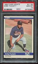 1984 Fleer Update #93 Kirby Puckett Rookie psa 10 Gem Mint  HOF