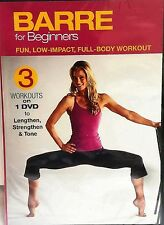 BARRE FOR BEGINNERS (DVD) 3 workouts Firm Burn Tighten and Tone Blend SEALED NEW