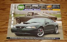 Original 2001 Ford Mustang Bullitt Feature Car Sales Brochure 01