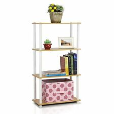 Furinno 4-Tier Multipurpose Storage Shelving Unit Beech-White 99557BE/WH NEW