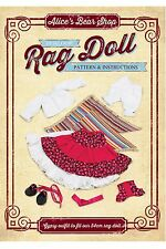 Heirloom Rag Doll Pattern & A5 Instruction booklet  - Gypsy Outfit
