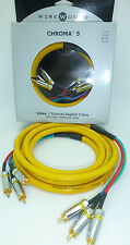WireWorld Chroma 5  3 meter Component video cable Wire World