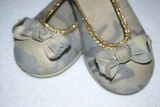 Zara Ballerinas camouflage  mit Gold & Schleife so pretty ! Gr 25 -neuwertig-