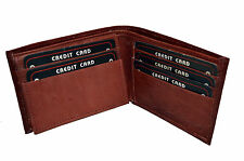 WALLET MENS BIFOLD REMOVABLE FLAP BROWN NEW GENUINE LEATHER GREAT GIFT IDEA