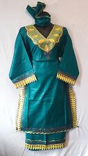 Women Clothing Long Skirt Suit African dashiki Vantage Ethnic H Green Free Size