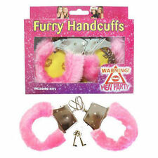 Metal Pink Furry Handcuffs for Hen party Do Stag Fun Play Sexy Love Night