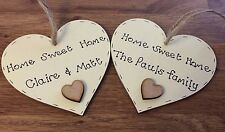 Personalised house warming/new home gift handmade wooden heart