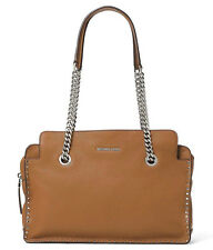 NWT NEW Authentic Michael Kors Astor Large Leather Satchel Bag ~Acorn