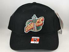 NBA Seattle Supersonics Vintage American Needle Black Fitted Hat Cap Size 7 1/8