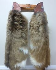 Cowboy Batwing Style Wooly Chaps   Shaggy Hair on Hide Woolies