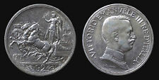pci1304) Vittorio Emanuele III  (1901-1943) 2 lire Quadriga Briosa 1915