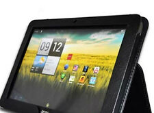 "Leather Case Pouch Cover For  10.1"" Acer Iconia Tab A200 Tablet  W/Stand Black"