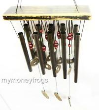 Feng Shui Chinese Oriental Lucky Coin Metal Brass Bell Wind Chime Harmony #MC180