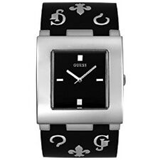 New Authentic guess  Black Wide  PLASTIC Bangle CUFF Ladies' Watch U11506L2 NWT