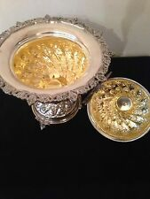 Antique Huge!! Solid Silver Rare Islamic,Arabic,Persian Opium Pot Holder!