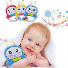 Colorful Lights Rabbit Ears Educational Music Toys Baby Cute Rattles New