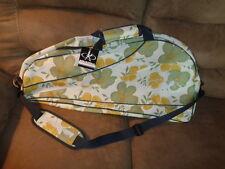 Belle de Match tennis racket sports bag Petal Dance gold green floral print NEW