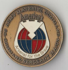 "Army Materiel Command CSM   Challenge Coin 1.5 ""DIA"