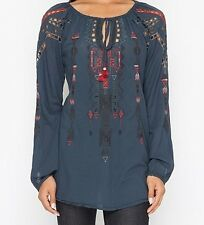 New Johnny Was Biya Casual Embroidered Blouse size L