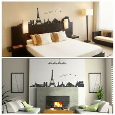 I love Paris/Eiffel Tower Landscape Bedroom Removable Wall Sticker/Decal/Paper