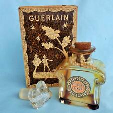 VINTAGE GUERLAIN L'HEURE BLEUE PARIS BOTTLE in RARE ORIGINAL BOX PERFUME