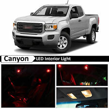 15x Red LED Light Interior Package Kit for 2015-2016 GMC Canyon