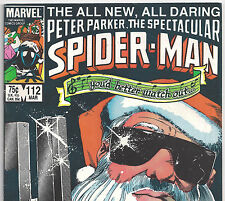 the Spectacular Spider-Man #112 with Black Cat from Mar. 1986 in Fine con. DM