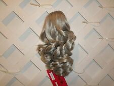 "Longer 14"" Curly Ponytail  Clip In Hair Piece NWT Color 56 Soft Grey"