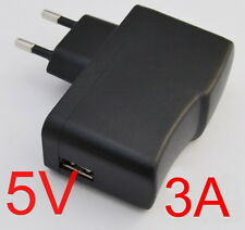 AC Converter Adapter DC 5V 3A Power Supply Charger EU plug 3000mA USB 15W
