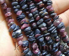 "8SE10188 Red Ruby&Blue Sapphire 6mm-10mm 16"" Chips Beads"