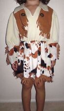 EUC Little Youth Girl's 4 - 5 Years Cowgirl Long Sleeve Dress Halloween Costume
