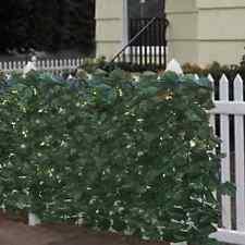 Artificial Faux Privacy Ivy Screen Fence Leaf Hedge Outdoor Expandable Decor