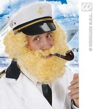 Captain Birdseye Blonde Wig & Beard Wig Troll Bluto Pilot Fancy Dress