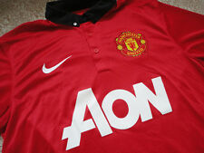 Authentic EPL BPL England Manchester United Blank Soccer Football Shirt Jersey S