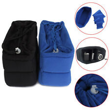 Black Camera Lens Insert Bag Protect Package Case Partition Padded Pouch