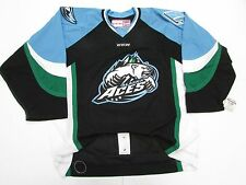 ALASKA ACES ECHL BLACK AUTHENTIC PRO CCM 6700 HOCKEY JERSEY SIZE 56