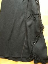 VINTAGE 90er Donna Karan DKNY Fransen Rock fringle Skirt Wickelrock US 6 Gr.36